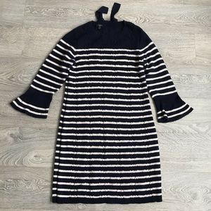 Talbots Wool Sweater Dress with Back Bow